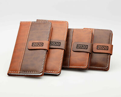 2018 Slim/Pocket Diary Week to View  Leatherette Leather Effect Magnetic Clip -1