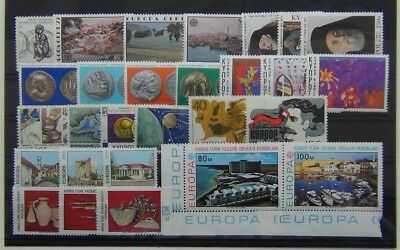 Cyprus 1977 1978 sets Europa Coins Poets Refugee Turkish Handicrafts Europa MNH