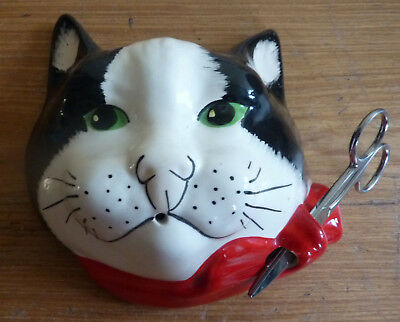 Babbacombe Pottery Cat String and Scissor Holder (2000)