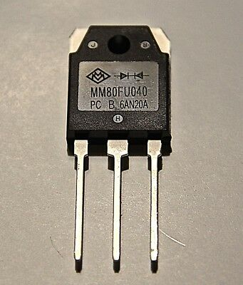 4 PCS Fast recovery diode MM80FU040 80A 400V TO-3P