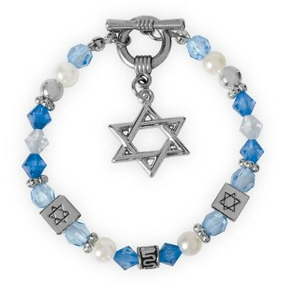 Star of David Bracelet with Charm (19224a) Gift Boxed
