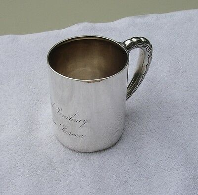 Antique 1880s TIFFANY & CO. Sterling CHILD'S CUP-Wave Pattern Handle-NR