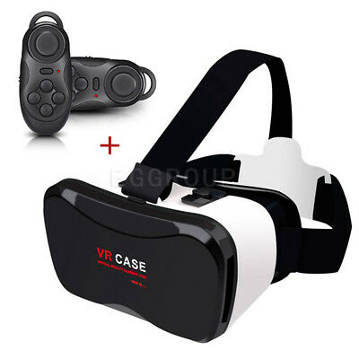 VR Virtual Reality Headset 3D Glasses+Controller For Samsung Galaxy Smart Phones