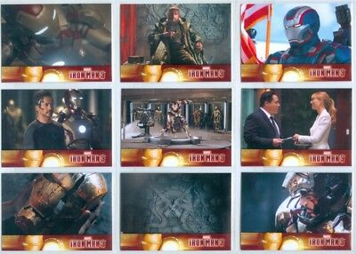 """COMPLETE BASE CARD SET 1-60"" MARVEL IRON MAN 3 Robert Downey Jr Gwyneth Paltrow"