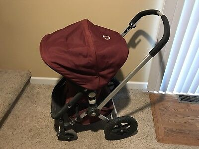 Bugaboo Red Burgundy frog Stroller with Toddler Seat