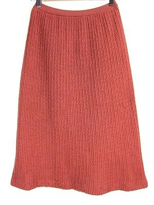 Vintage 1990s Rusty Pink Wool Blend Knit Skirt M-L