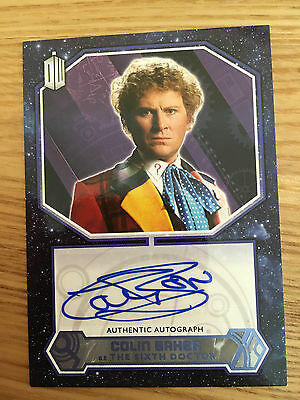 Topps Doctor Who 2015 Blue Autograph Colin Baker as The Sixth Doctor 06/50