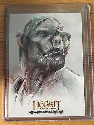 The Hobbit Desolation of Smaug Sketch Card by Plinio Pinto