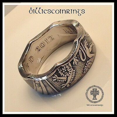 Shield ot the Royal Arms Fifty Pence Coin Ring