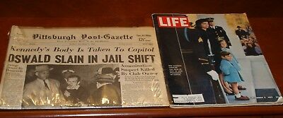 Kennedy Assassination/Burial Newspaper & Magazine