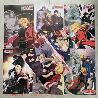 8 Piece Poster Fullmetal Alchemist A3 Home Decor Posters For Anime For Fan Gift
