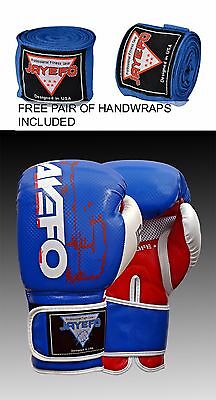 Pro Leather Boxing Gloves Muay Thai Punching Bag Sparring Gloves Kick Boxing Mma