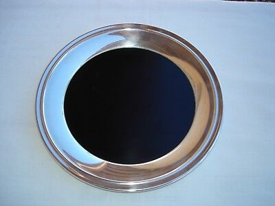 """International Sterling Silver 8"""" Round Tray With Insert 208 Grams  Style 102 69"""