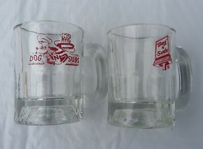 """Pair of Vintage Dog and Suds 3"""" Mugs"""