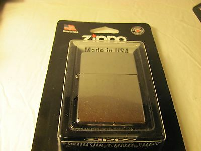 New Zippo Genuine Wind Proof Lighter 207 Bp Reg Street Chrome Made In U.s.a
