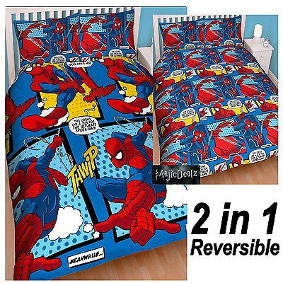 Spiderman Webhead Kids Double Duvet Cover Set Official Bedding Bedroom