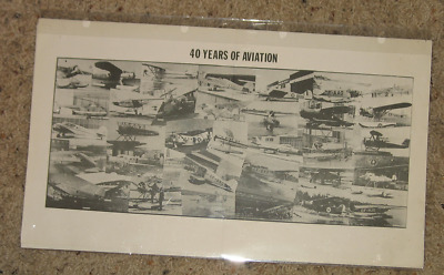 40 Years of Aviation - Photo collage - 2 panels
