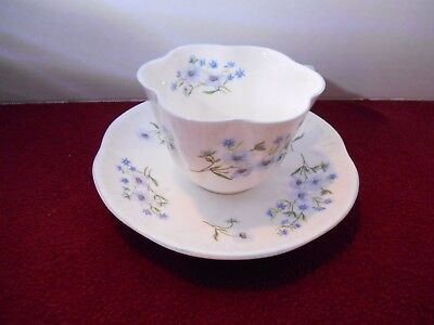 "Shelley Dainty ""Blue Rock"" Cup/Saucer Fine Bone China England - 13591"