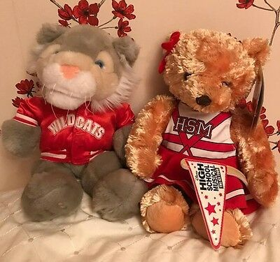 High School Musical Collectors Bears Excellant Condition + outfits HSM Wildcats