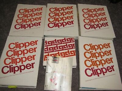 Lot of 6 Dynamic Graphic Clipper Clip Art Books 1990 - 1994 & Index 89-93