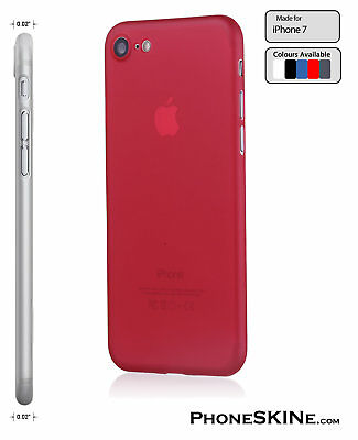 """iPhone 7 RED Apple PhoneSKINe iPhone Case 0.02"""" Ultra thin perfect fit"""