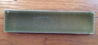 "Antique Vintage A E Tile Co Ltd 6"" Green  Victorian Style Fireplace Tiles"
