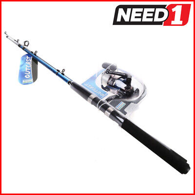 SHAKESPEARE Outcast Boat Combo Fishing Rod & Reel 1.8M.