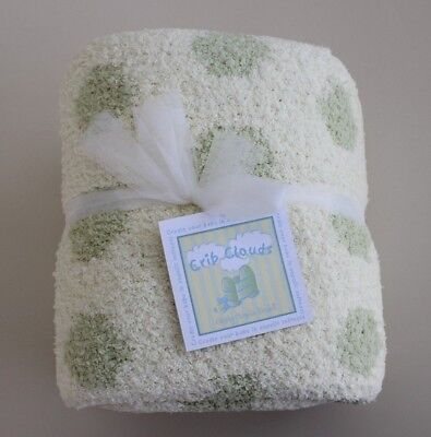 5f216c376a2 Crib Clouds by Colorado Clothing Baby Blanket Chunky Chenille Yellow Green  GIFT