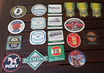 Lot of beer coasters from Australia and around the world