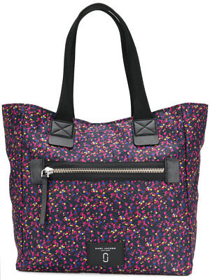 3ca4cc57d99c NWT Marc Jacobs North South Blue Berry Printed Nylon Large Tote Bag Carryall
