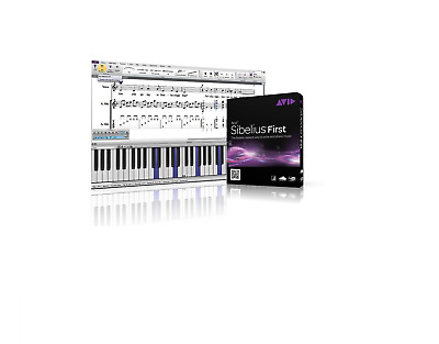 Sibelius First Notation Music Creation Software By Avid Win/mac Retail/boxed >8