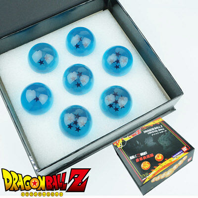 Blue DragonBall Z 7 Stars Crystal Ball Set of 7 Dragon Balls Figure 4CM +Box New