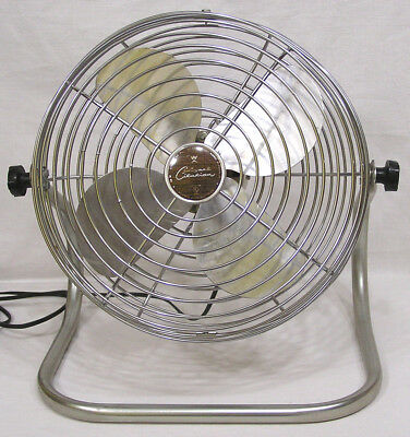 Vtg Mid Century Electric Fan Wizard Citation Western Auto 1960s