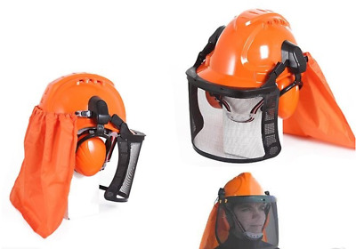 Chainsaw Safety Helmet with Mesh Visor  and Ear Muffs