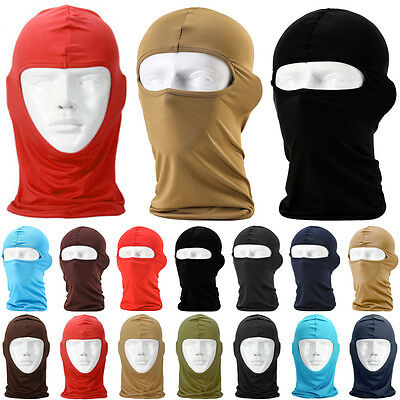 Motorcycle Cycling Snowboard Outdoor Lycra Balaclava Full Face Neck Mask NEW