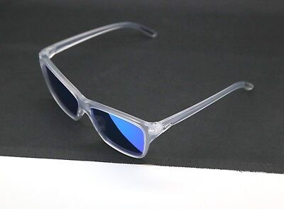 New Women's Oakley Hold On Matte Clear Frame Sapphire Iridium Lenses #oo9298-09