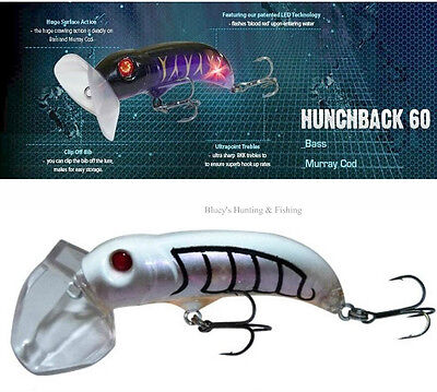 Balista Led technology hunchback 60 mm surface Bass Cod lure;GHOST MINNOW new UV