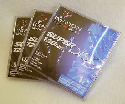 Imation LS120 superdisks 120 MB x 3