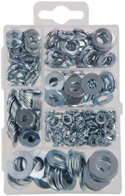 Zinc Plated Lock Washers Kit Indoor and Outdoor Beveled Flat Washers 277 pieces