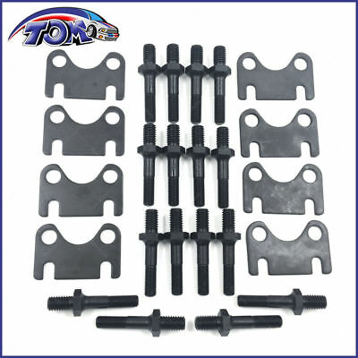 New Sbc Small Block Chevy Push Rod Guide Plates And 3/8 Rocker Arm Studs Kit