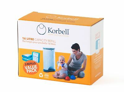 Korbell Nappy Disposal Refill - 3 Pack