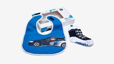 Genuine VW Motorsport Baby Gift set, containing socks and bib - 5DA084415