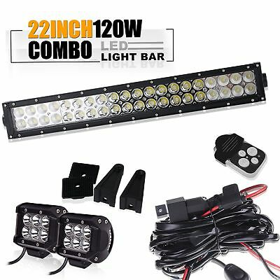 22'' Led Light Bar Fit For ATV XP1000 XP900 800s RZR RZR4 Side By X Polaris