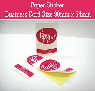 Paper Sticker Printing Business Cards Size (90mm x 54mm) Label Sticker