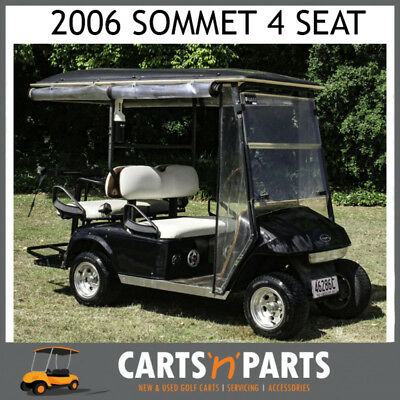 Sommet 2006 Black 4 Seat Golf Cart Buggy With Radio And Like New Batteries