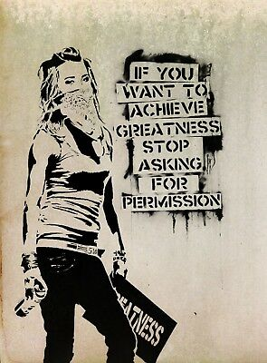 Banksy Quote Canvas Picture Poster Print Wall Art Unframed #1108