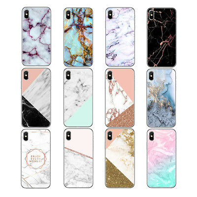For Iphone 5 5S SE Geometric Figure Marble Pattern TPU Ultra Phone Case Cover