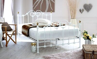 NEW Lyon 4ft6 Double Metal Bed with MATTRESS choice