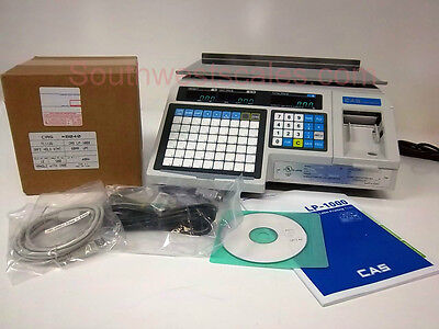 New CAS LP-1000N Label Printing Scale - Free Shipping + Case of 8040 Labels!