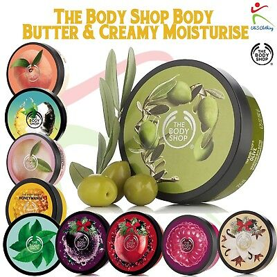 The Body Shop Body Butter 200ml Soft Rich & Creamy   Many Flavors to Select  